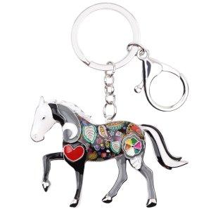 Schlüssel-/ Taschenanhänger Pferd Horse aus Metall- Emaille Legierung * NEU *