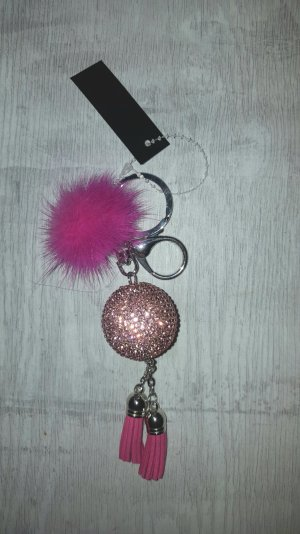 Key Chain silver-colored-pink