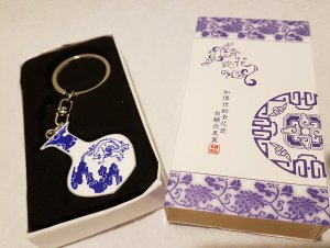 & other stories Key Chain white-blue