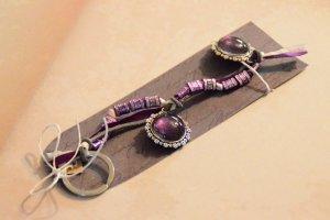 Porte-clés multicolore verre