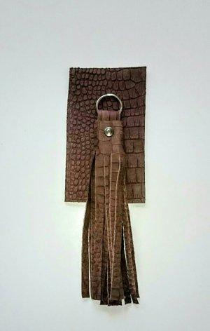 Key Chain dark brown leather
