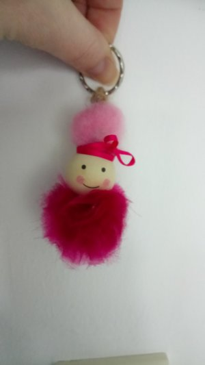 Bid Handmade Key Chain raspberry-red