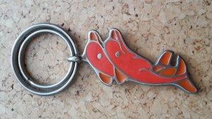 Porte-clés gris-saumon