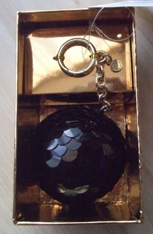 Michael Kors Porte-clés noir-doré matériel synthétique