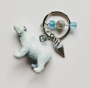 Porte-clés bleu clair-vert pâle