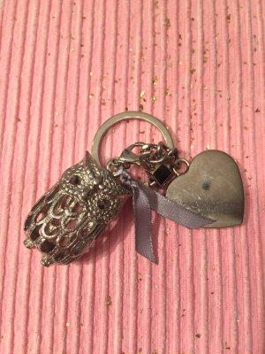 Schlüsselanhänger Eule mit Glitzersteinen