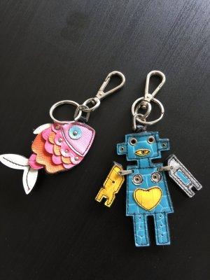 Schlüsselanhänger Fisch und Roboter