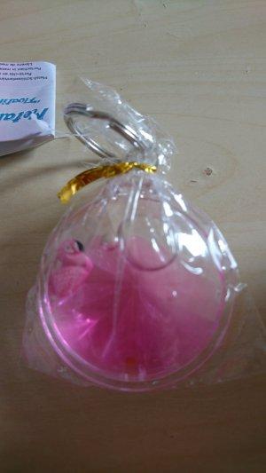Porte-clés rose-rose