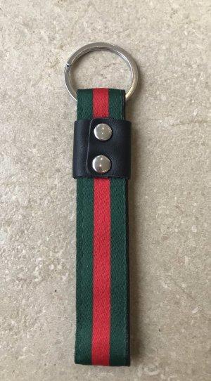 Porte-clés vert forêt-rouge foncé