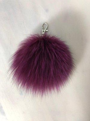 Porte-clés violet pelage