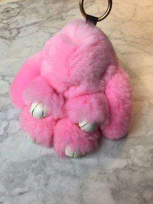 Schlüsselanhänger Pink Bag Charm Fell Taschen Anhänger