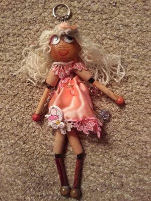 Schlüsselanhänger Puppe aus Holz Handgemacht Handmade