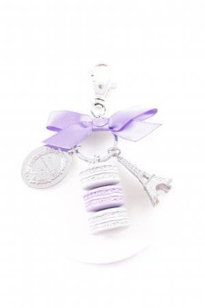 Key Chain silver-colored-blue violet casual look