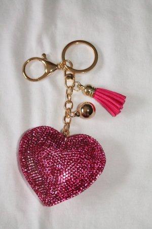 Portachiavi rosa-oro