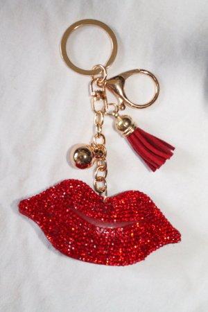 Schlüsselanhänger * Taschenanhänger * Bag Tag * Lippen * Lips * Kussmund * NEU *