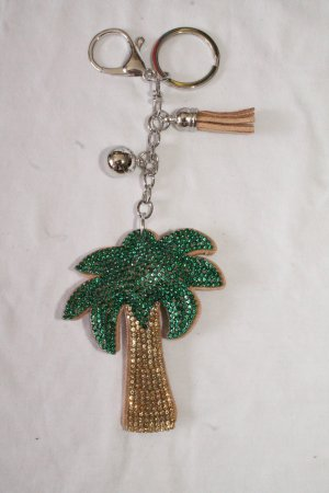 Porte-clés doré-vert