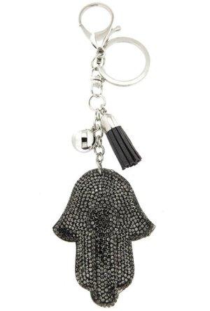 Schlüsselanhänger/Taschenanhänger Fatima - Fatimas Hand, silber, Glitzer *neu*