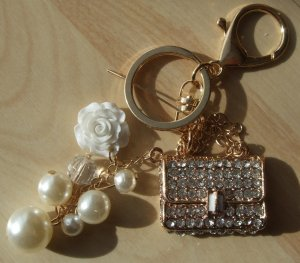 Key Chain white-gold-colored
