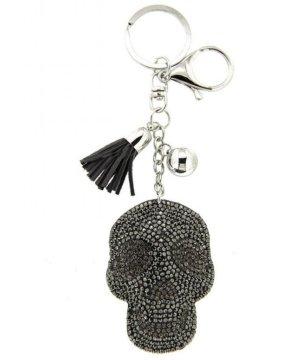 Schlüsselanhänger / Taschenanhänger Skull, glitzer Totenkopf, silber *NEU*