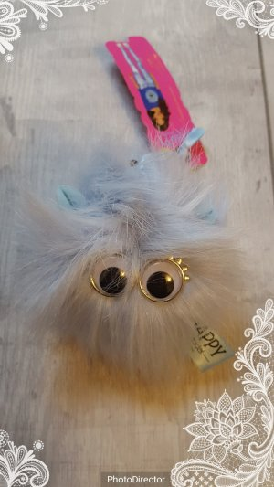 Schlüsselanhänger / Taschenanhänger SO HAPPY by TOP MODEL Puschel, hellblau