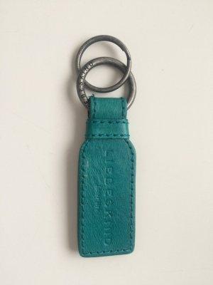 Liebeskind Porte-clés bleu cadet-argenté cuir