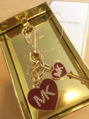 Michael Kors Porte-clés doré-rouge foncé