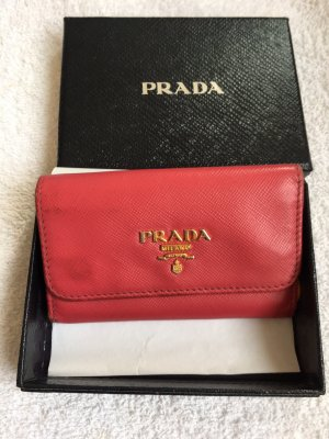 Prada Key Case dark red