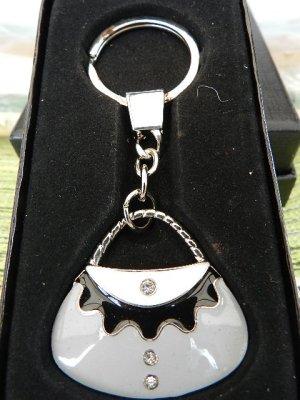 Schlüsselring Handtasche, mit Strasssteinen