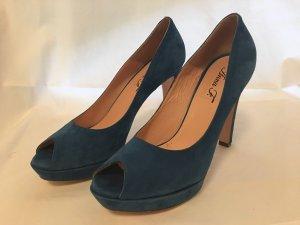 Anna F. Peep Toe Pumps blue
