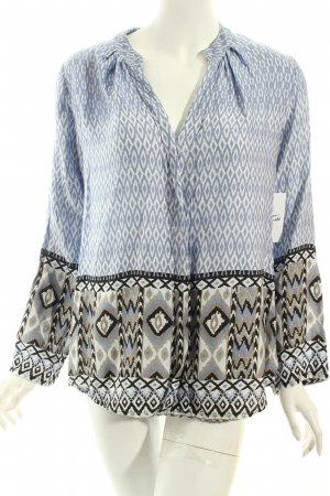 Slip-over blouse abstract patroon extravagante stijl