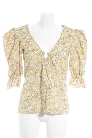 Slip-over blouse bloemenprint extravagante stijl