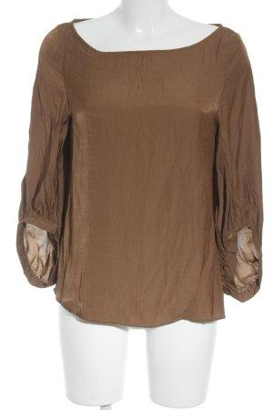 Slip-over blouse camel Jaren 70 stijl