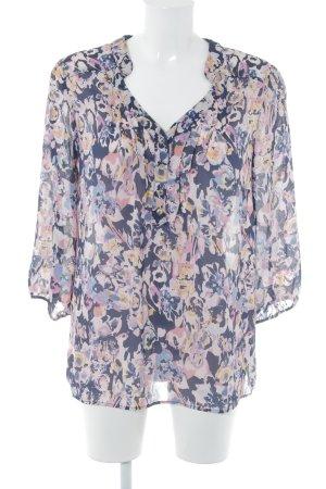 Slip-over blouse bloemen patroon casual uitstraling