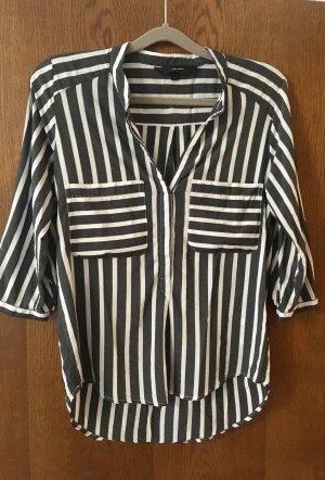 Vero Moda Slip-over blouse antraciet-wit