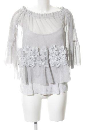 Slip-over blouse lichtgrijs casual uitstraling