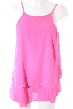 Schlupf-Bluse neonpink Street-Fashion-Look