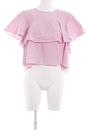 Schlupf-Bluse rosa Street-Fashion-Look