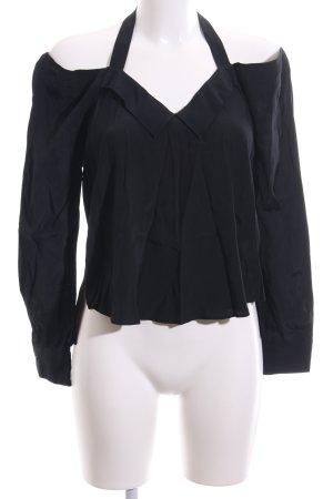 Schlupf-Bluse schwarz Casual-Look