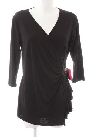 Schlupf-Bluse schwarz Elegant