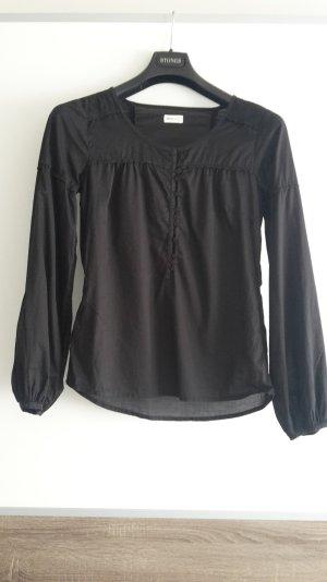 Schlupf-Bluse schwarz von Only