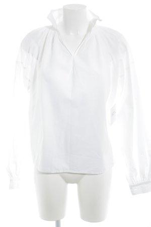 Blouse à enfiler blanc style campagnard