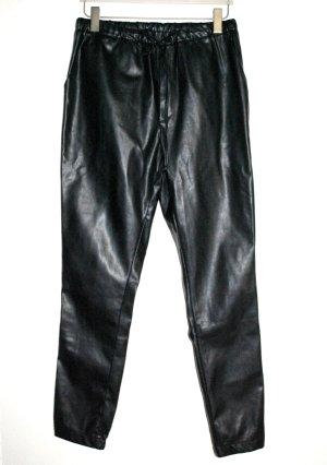 Schlupf Hose Leder schwarz  von BIK BOK Gr.38