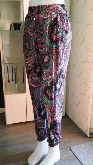 Pantalon large multicolore viscose