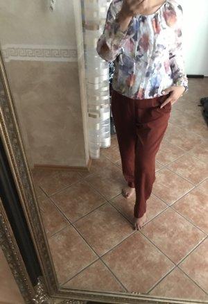 Blusa tipo Carmen multicolor