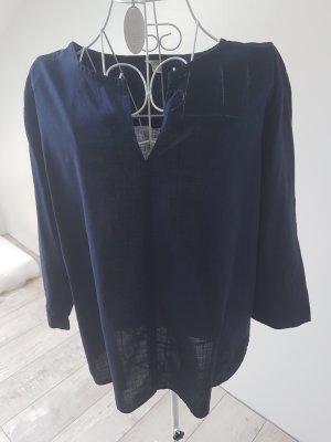 Esprit Blusa caída azul oscuro
