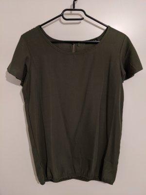 Slip-over blouse olijfgroen
