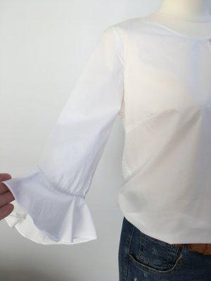 s.Oliver Blouse à enfiler blanc coton