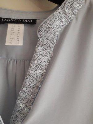 Patrizia Dini Slip-over blouse lichtblauw Polyester