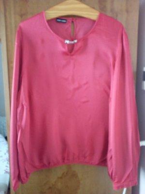 Gerry Weber Glanzende blouse zalm