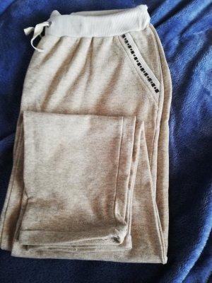 Pantalon de jogging beige polyester